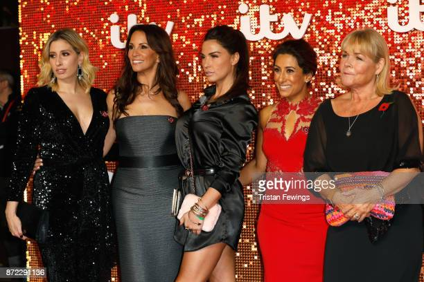 Stacey Solomon Andrea McLean Katie Price Saira Khan and Linda Robson arriving at the ITV Gala held at the London Palladium on November 9 2017 in...