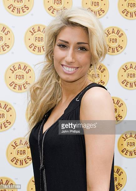 Stacey Solomon Arriving For The Jeans For Genes CelebriTee Party At The Sanctum Soho Hotel In Central London