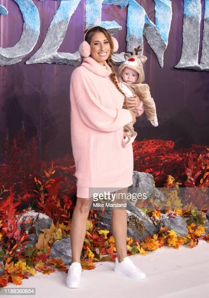 Stacey Solomon attends the Frozen 2 European premiere at BFI Southbank on November 17 2019 in London England