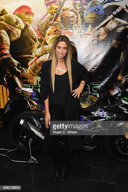 Stacey Solomon attends the UK Gala screening of Teenage Mutant Ninja Turtles at Vue West End on September 28 2014 in London England