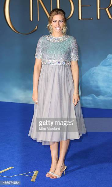Stacey Solomon attends the UK Premiere of Cinderella at Odeon Leicester Square on March 19 2015 in London England