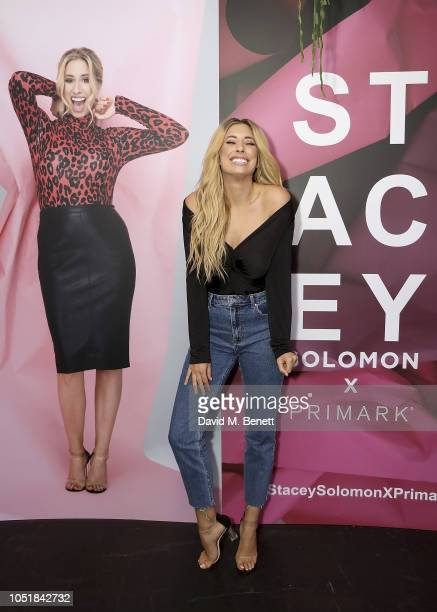 Stacey Solomon celebrates the launch of her new collection with Primark on October 10 2018 in London England The collection launches on Thursday 11th...