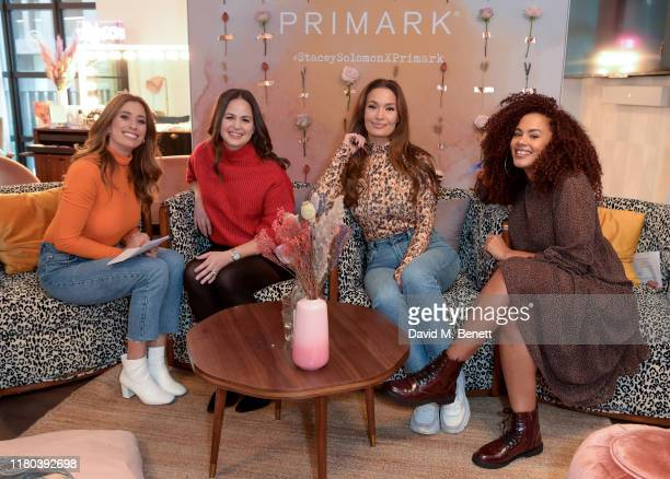 Stacey Solomon Giovanna Fletcher Megan Rose Lane and Simone Powderly poses before taking part in a panel discussion at the VIP launch party...