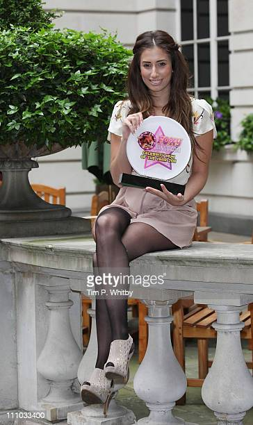 Stacey Solomon is awarded Foxy Bingo Celebrity Mum Of The Year 2011 at Renaissance Chancery Court Hotel on March 29 2011 in London England
