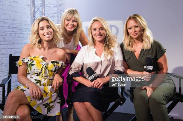 Stacey Solomon Kate Thornton Tamzin Outhwaite and Kimberley Walsh during a BUILD event at AOL London on July 20 2017 in London England