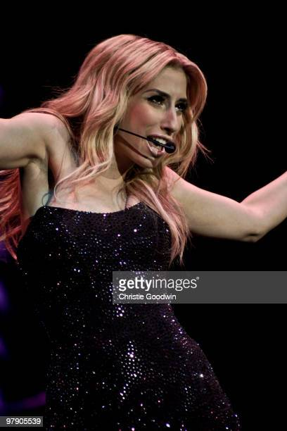 Stacey Solomon performs during X Factor Live at O2 Arena on March 20, 2010 in London, England.