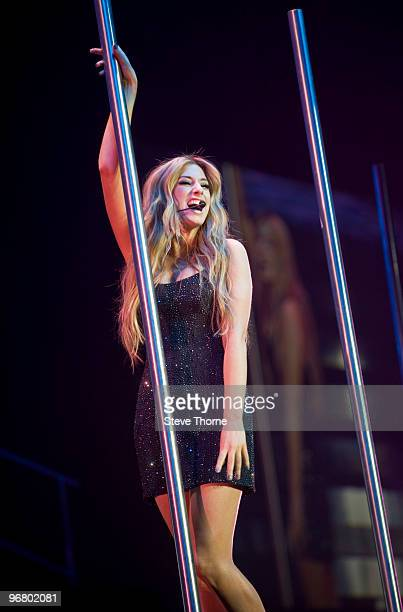 Stacey Solomon performs on stage during the X Factor Live Tour at the LG Arena on February 17, 2010 in Birmingham, England.
