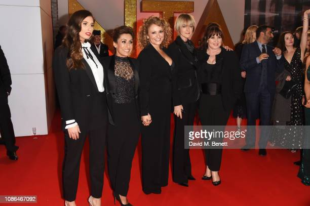 Stacey Solomon Saira Khan Nadia Sawalha Jane Moore and Coleen Nolan of Loose Women attend the National Television Awards held at The O2 Arena on...