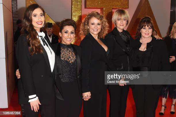 Stacey Solomon, Saira Khan, Nadia Sawalha, Jane Moore and Coleen Nolan of Loose Women attend the National Television Awards held at The O2 Arena on...