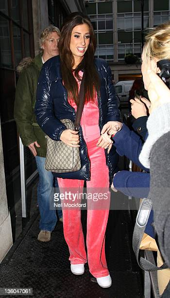 Stacey Solomon seen at BBC Radio One on December 21 2011 in London England