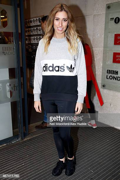 Stacey Solomon seen at the BBC Radio 1 Studios on March 24 2015 in London England