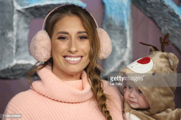 Stacey Solomon with her son Rex Swash attends the Frozen 2 European premiere at BFI Southbank on November 17 2019 in London England