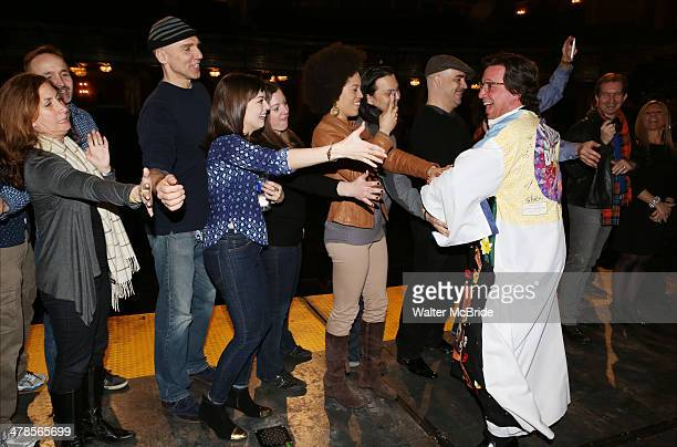 Stacey Todd Holt with John Schiappa Margo Seibert Eric Anderson and company attend the Broadway Opening Night Gypsy Robe Ceremony celebrating Stacey...