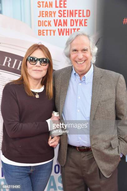 Stacey Weitzman and Henry Winkler at the LA Premiere of If You're Not In The Obit Eat Breakfast from HBO Documentaries on May 17 2017 in Beverly...