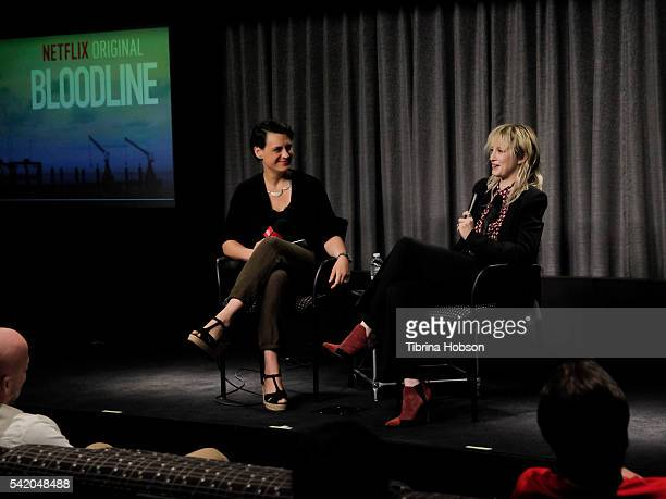 Stacey Wilson Hunt and Andrea Riseborough attend the SAG-AFTRA Foundation Conversations with 'Bloodline' at SAG-AFTRA Foundation on June 21, 2016 in...