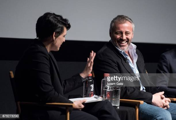 Stacey Wilson Hunt and Matt LeBlanc speak onstage at the Tribeca TV Episodes panel during 2017 Tribeca Film Festival on April 30 2017 in New York City
