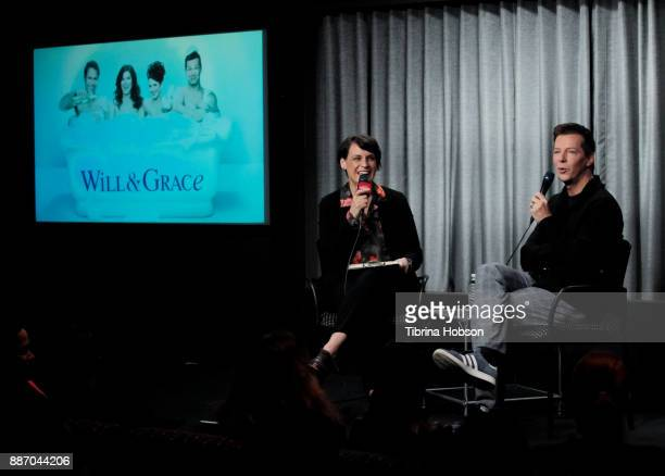 Stacey Wilson Hunt and Sean Hayes attend SAGAFTRA Foundation's conversations and screening of 'Will Grace' at SAGAFTRA Foundation screening room on...