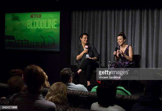 Stacey Wilson Hunt Hollywood Editor for New York Magazine and actress Linda Cardellini attend SAGAFTRA Foundation Conversations for Bloodline at...