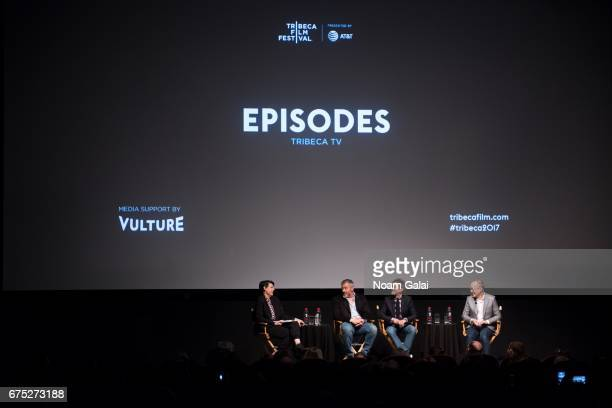 Stacey Wilson Hunt Matt LeBlanc Jeffrey Klarik and David Crane speak onstage at the Tribeca TV Episodes panel during 2017 Tribeca Film Festival on...