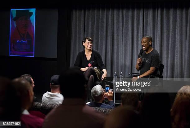 Stacey Wilson Hunt New York Magazine and Actor Eddie Murphy attend SAGAFTRA Foundation's Conversations with Mr Church at SAG Foundation Actors Center...