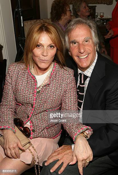 Stacey Winkler and Henry Winkler attend the wedding of Michael Feinstein and Terrence Flannery held at a private residence on October 17 2008 in Los...