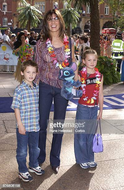 Stacey Young and and her family attend the premiere of 'Lilo and Stitch' at the Odeon in Leicester Square