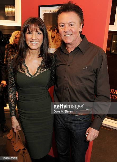 Stacey Young and Paul Young attend a private view of 'Bruno Bisang 30 Years Of Polaroids' at The Little Black Gallery on January 15 2013 in London...