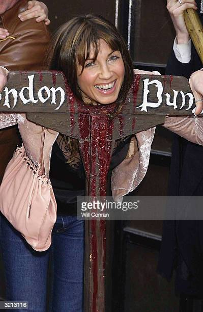Stacey Young attends the celebrity unveiling of brand new 1m ride 'Traitor Boat Ride To Hell' where visitors are ushered aboard by the dungeon keeper...