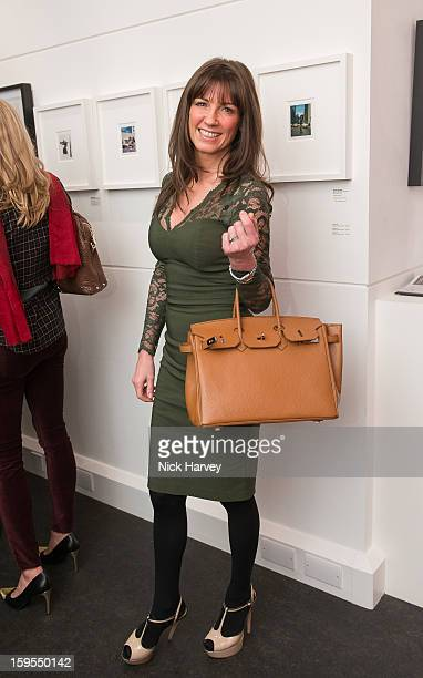 Stacey Young attends the private view of Bruno Bisang 30 Years of Polaroids at The Little Black Gallery on January 15 2013 in London England