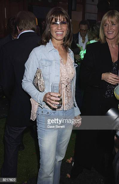 Stacey Young wife of singer Paul Young during the street party and collection preview in Saville Row on 12th February 2002 to mark the new couture...