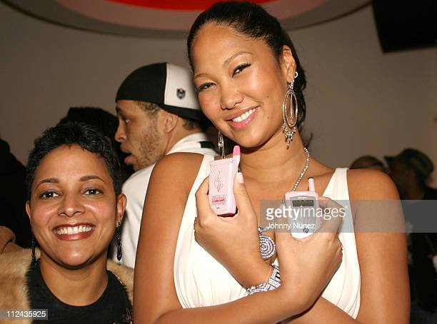 Staci Crespo of Motorola and Kimora Lee Simmons during Olympus Fashion Week Fall 2004 Baby Phat After Party at Boulevard in New York City New York...