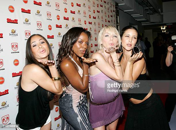 Staci Flood and the Bombshell Babes during 2005 MTV VMA Stuff Magazine Party Arrivals at Sagamore Hotel in Miami Beach Florida United States