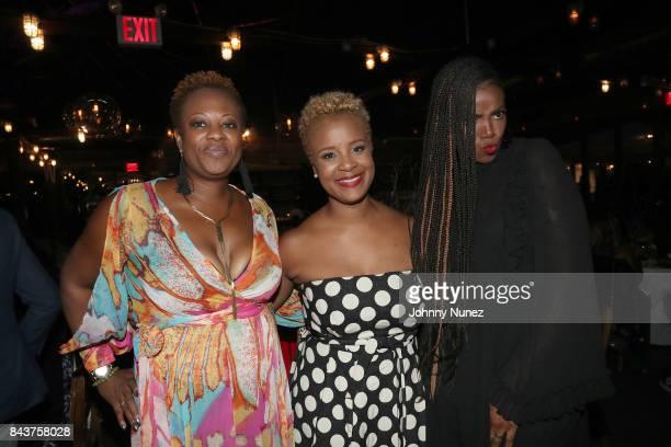 Staci Hallmon Brandice Daniel and Tai Beauchamp Attend Harlem's Fashion Row at La Marina Restaurant Bar Beach Lounge on September 6 2017 in New York...