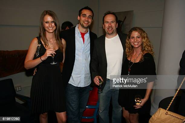 Stacia Anderson, Matthew J. Bradley, Brent Montgomery and Courtney Montgomery attend ELLE DECOR Party Hosted By Editor-in-Chief MARGARET RUSSELL For...
