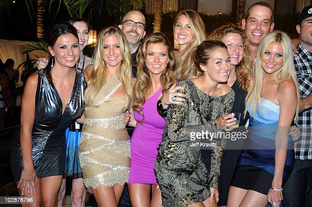 Stacie Hall Kristin Cavallari Audrina Partridge Whiteny Port Lauren Conrad Adam DiVello and Stephanie Pratt attends MTV's The Hills Live A Hollywood...