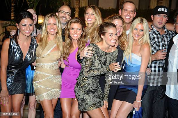 Stacie Hall Kristin Cavallari Audrina Partridge Whiteny Port Lauren Conrad dam DiVello Stephanie Pratt and Brody Jenner attends MTV's 'The Hills Live...