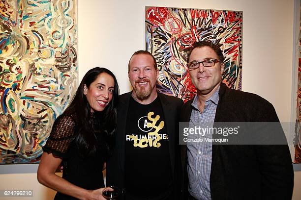 Stacie HandwerkerGregory de la Haba and Steven Kay at Bodega de la Haba Presents in Association with Edelman Arts German Artist Leon Lowentraut at...