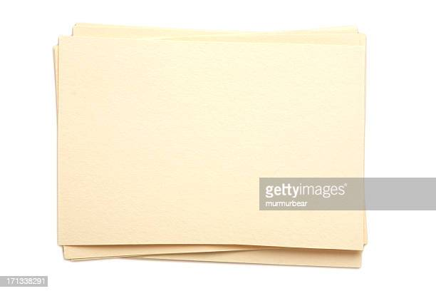Stack blank papers