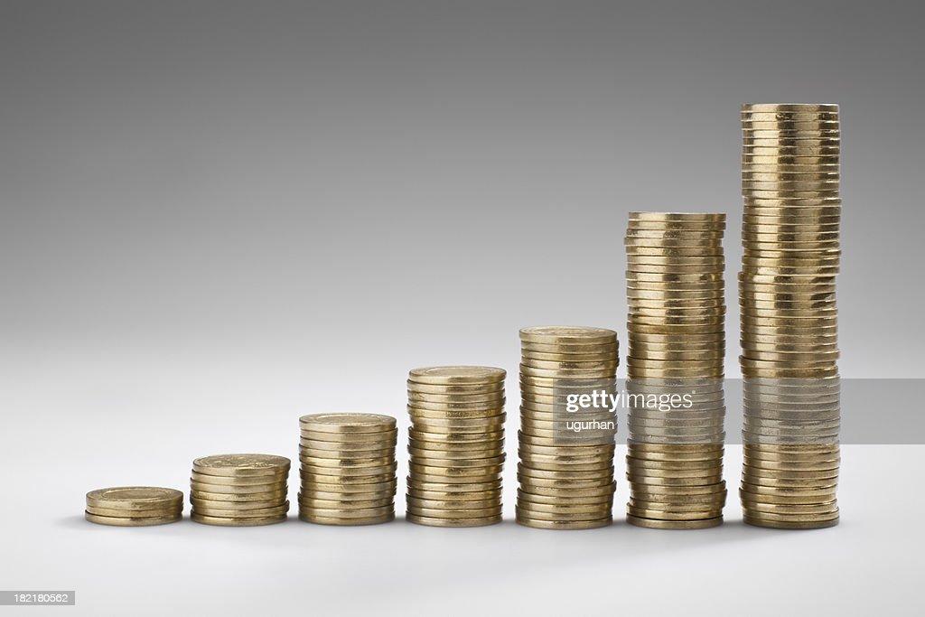 Stack Geldmünze : Stock-Foto