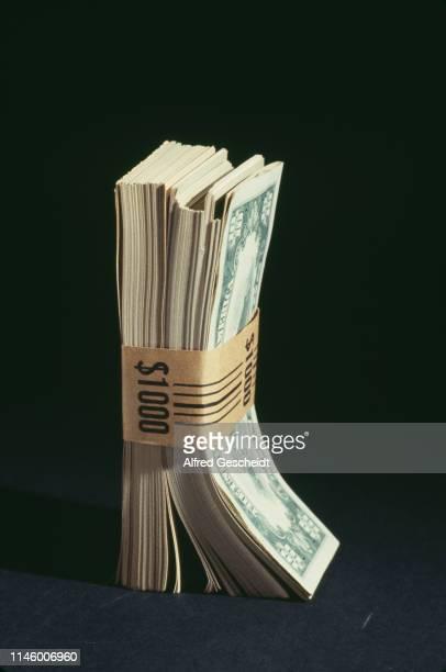 Stack of 1000$ dollar bills, US, 1987.