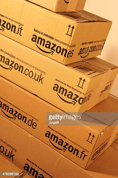 Stack of Amazon.eu boxes