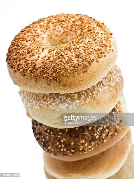 Pile d'un assortiment de petits pains