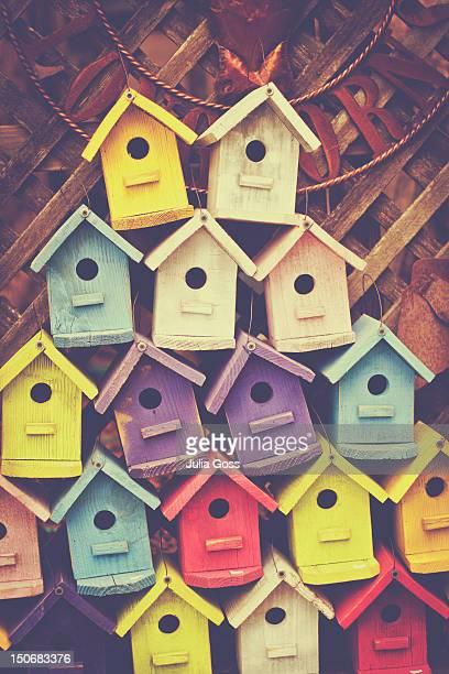 Stack of birdhouses