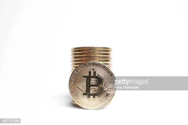 A Stack Of Bitcoins