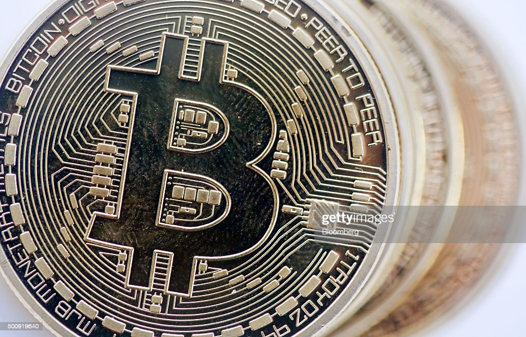Bitcoins As The Digital Currency Climbed To Highest Levels Since Early November : News Photo