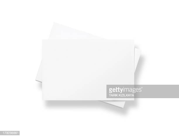 stack of blank white business cards - stack stock photos and pictures