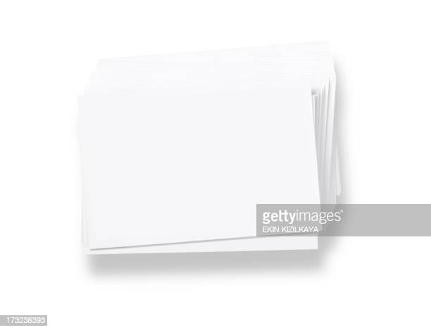 スタックの空白の白いビジネスカード - 束 ストックフォトと画像