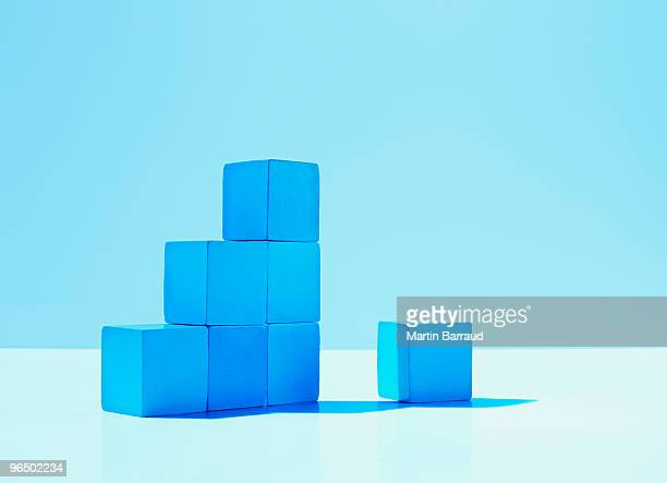 Stack of blue blocks