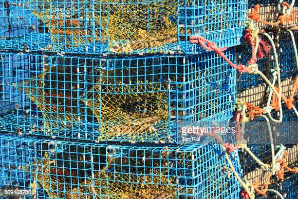 Stack of Blue Lobster traps in Saint John, New Brunswick, Canada