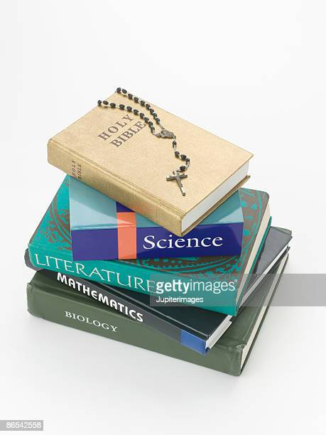 stack of books and bible - religious text stock pictures, royalty-free photos & images